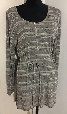 Women's Oh Baby By Motherhood Maternity Gray Light Weight Sweater Large