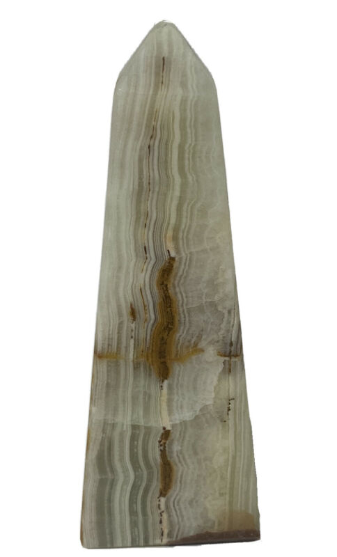 """Obelisk Paperweight Marble Onyx Alabaster Made In Pakistan 4"""""""