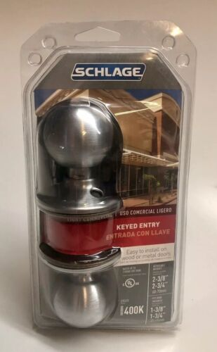 Schlage Lock F51CSVORB626KA4 Orbit Entry Lockset 626 KA4 Ent