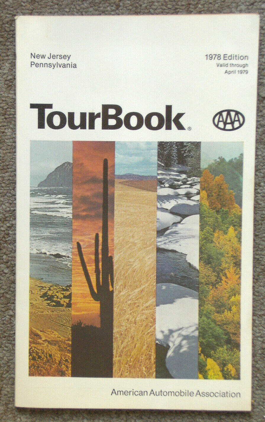 Vintage AAA Tour Book New Jersey Pennsylvania 1978 Edition - $0.99