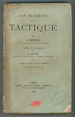 MECKEL J. LES ELEMENTS DE LA TACTIQUE WESTHAUSSER 1887 MILITARIA TATTICA