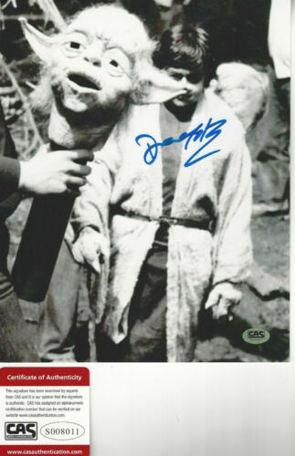 Empire Strikes back YODA  Deep Roy  Autographed 8x10  photo  CAS Certified