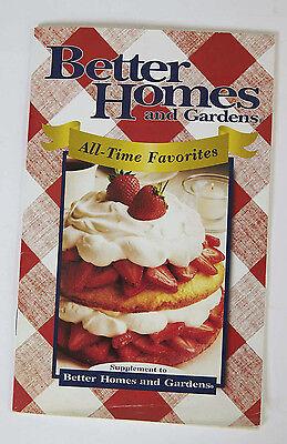 Better Homes & Gardens All-Time Favorites Cookbook Paperback 70+ Recipes