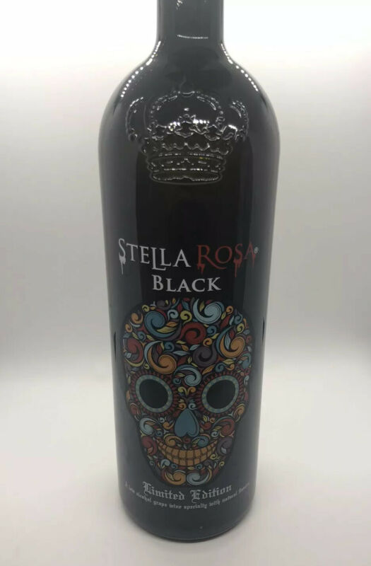 Stella Rosa Black Limited edition embossed & enameled EMPTY bottle with No Cap
