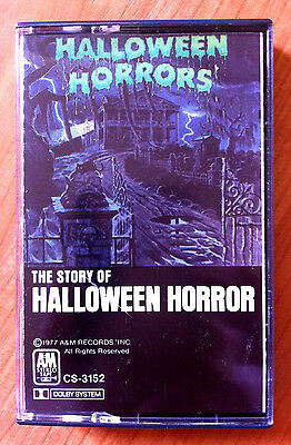 HALLOWEEN HORRORS: THE STORY AND SOUNDS OF HALLOWEEN (1977, Cassette) VERY RARE! - Halloween Horrors The Sounds Of Halloween