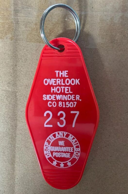 Red Overlook Hotel The Shining Film Horror Movie Motel Room Keychain