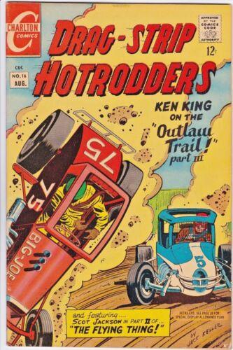 DRAG-STRIP HOTRODDERS # 16 CHARLTON - JACK KELLER - RACING CARS