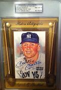 Mickey Mantle Autograph Card