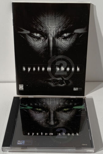 Computer Games - Vintage SYSTEM SHOCK 2 (CD-ROM & Manual) 1999 PC Computer Video Game RPG Shooter