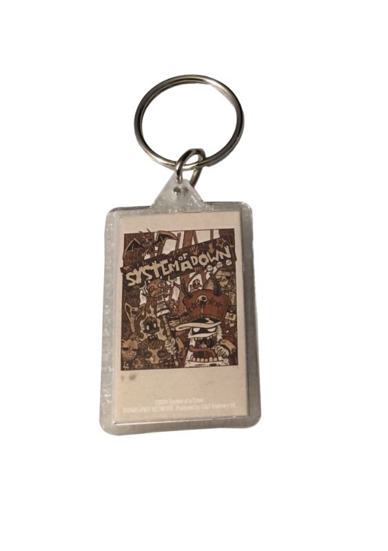 System Of A Down Band Monsters Double Sided Lucite Key Ring Keychain