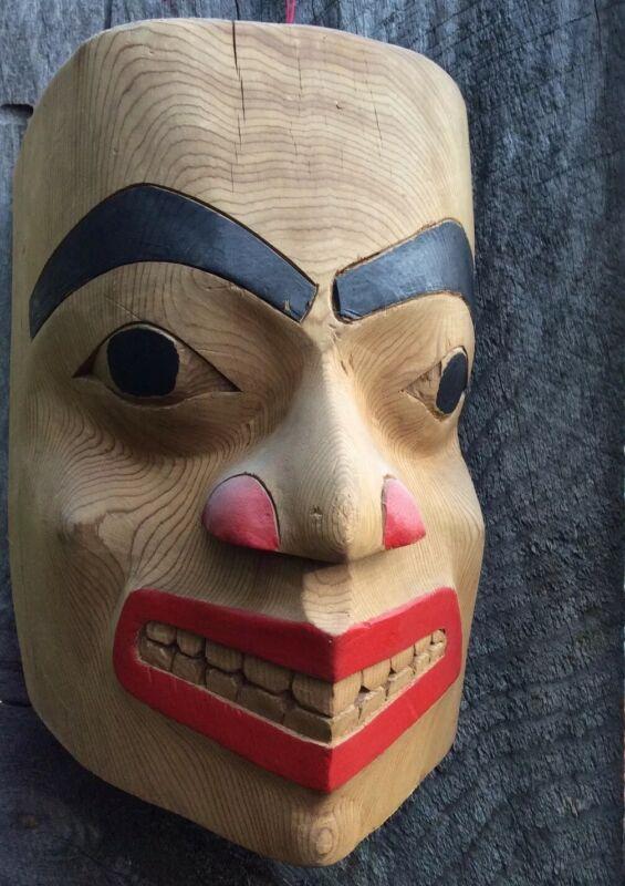 Northwest Coast Mask Haida Portrait Mask Native American Indian Cedar Frontlet