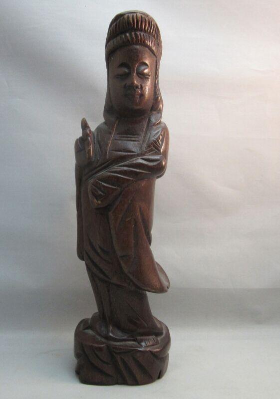 Carved wood Hindu Buddhist statuette figure figurine