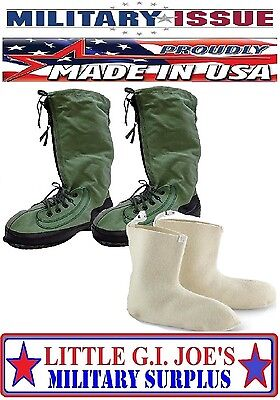NEW MEDIUM W/LARGE WOOL LINERS Mukluk Arctic N-1B Extreme Cold Weather Boots