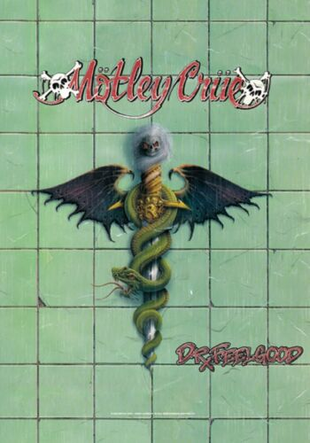 "Motley Crue Dr Feelgood Vinyl Cover LPGI Fabric Textile Poster Flag 30"" X 40"""