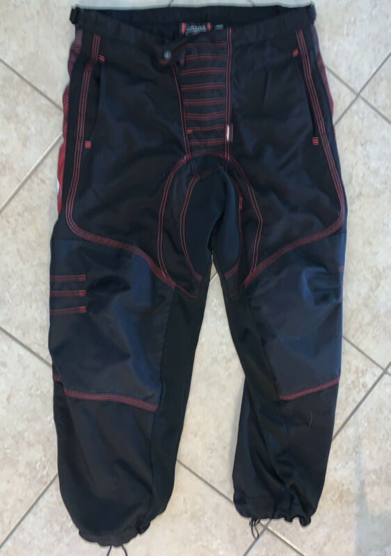 Dye Hybrid Core Division 2004 Paintball Pants Black Red Men's Size Large