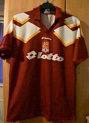 "Lotto Vintage Rare Northampton home shirt 1995/1996  size on tag uk Large  44"""