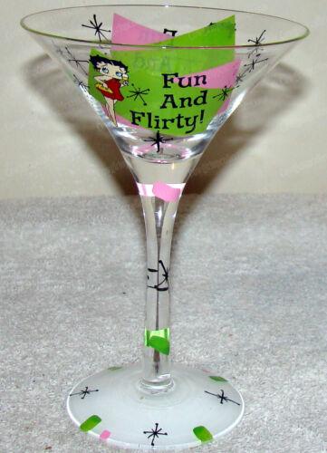 Betty Boop Fun and Flirty Martini Glass (Westland, 20084) 7-oz. (2009)