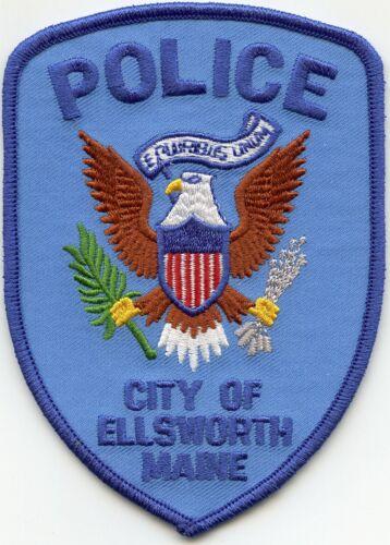 ELLSWORTH MAINE ME POLICE PATCH