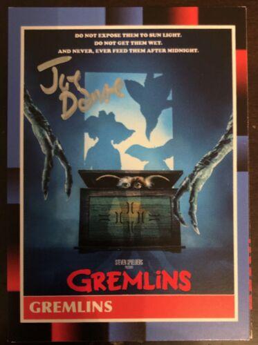 Gremlins JOE DANTE SIGNED One of a Kind Card - RARE