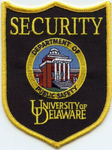 UNIVERSITY OF DELAWARE DE SECURITY police PATCH
