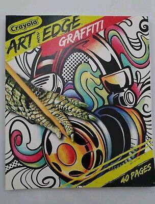 Crayola Coloring Book - Crayola Art with Edge GRAFFITI Adult/KIDS Coloring Book 8