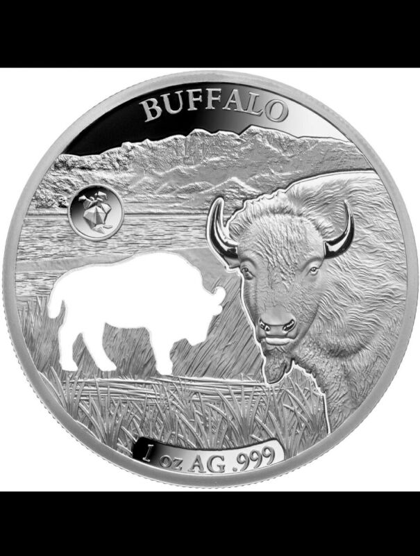 2020 Barbados Shapes America 1 oz Proof-Like Silver Buffalo MINTAGE ONLY 7500