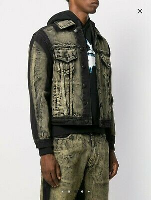 LIAM HODGES Bleached Effect Denim Jacket
