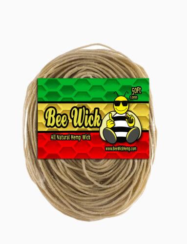 50ft of 100% Organic Hemp Wick! Made in USA by Bee Wick Hemp!