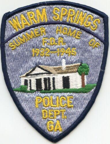 WARM SPRINGS GEORGIA GA Summer Home of President Franklin Roosevelt POLICE PATCH