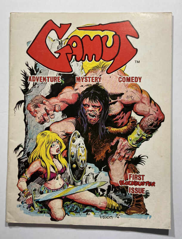 Gamut #1 Mike Plug Cover Will Eisner Berni Wrightson Neal Adams 1975 Fanzine