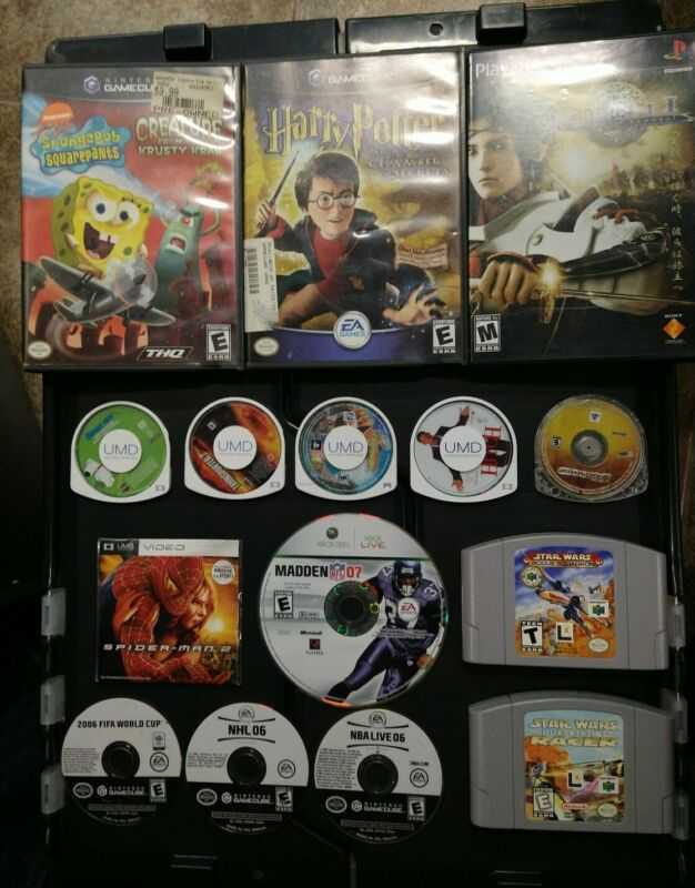 WHOLESALE Video Game Lot of 15 - GameCube / N64 / PSP / Xbox 360 / PlayStation 2