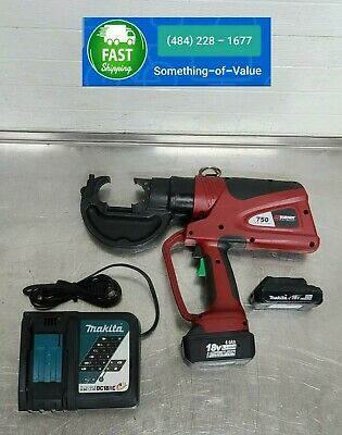 Burndy Pat750li Hydraulic 18v Battery 12 Ton Crimper Patriot Crimping Tool