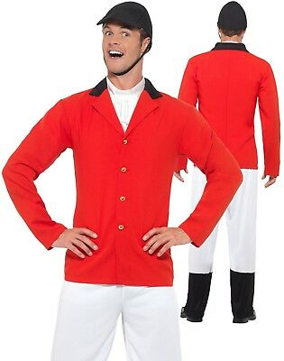 Mens Huntsman Costume Fox Hunter Horse Rider Hunting Sports Fancy Dress