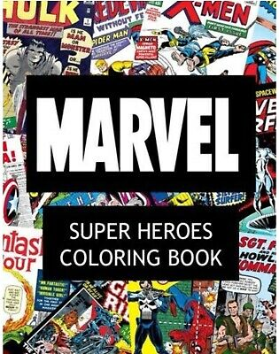 Adult Coloring Book - Marvel Super Heroes Coloring Book