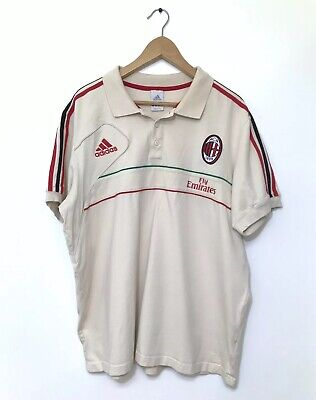 Vintage Limited Edition ADIDAS AC MILAN Fly Emirates Official Team Polo Shirt