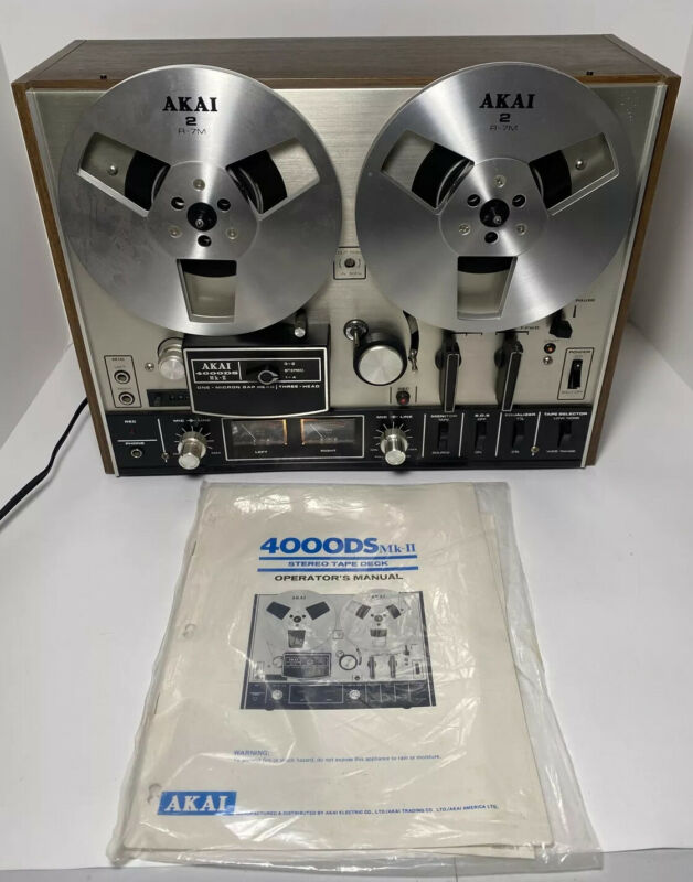 AKAI 4000DS MKII STEREO REEL-TO-REEL TAPE DECK - FANTASTIC !!!  # 105