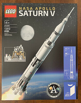 LEGO 21309 Ideas NASA Apollo Saturn V 21309 New Factory Sealed 1969 pcs