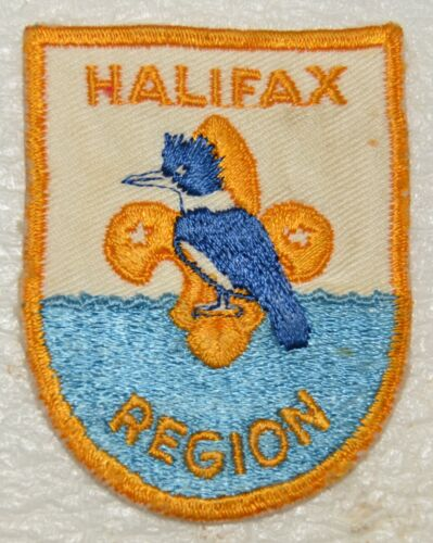 HALIFAX REGION Stitched Line Top Water Boy Scout Badge Canadian (NSH2A) USED