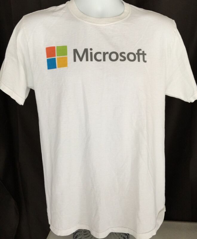MICROSOFT T-Shirt Size Medium Windows Office Bill Gates PC