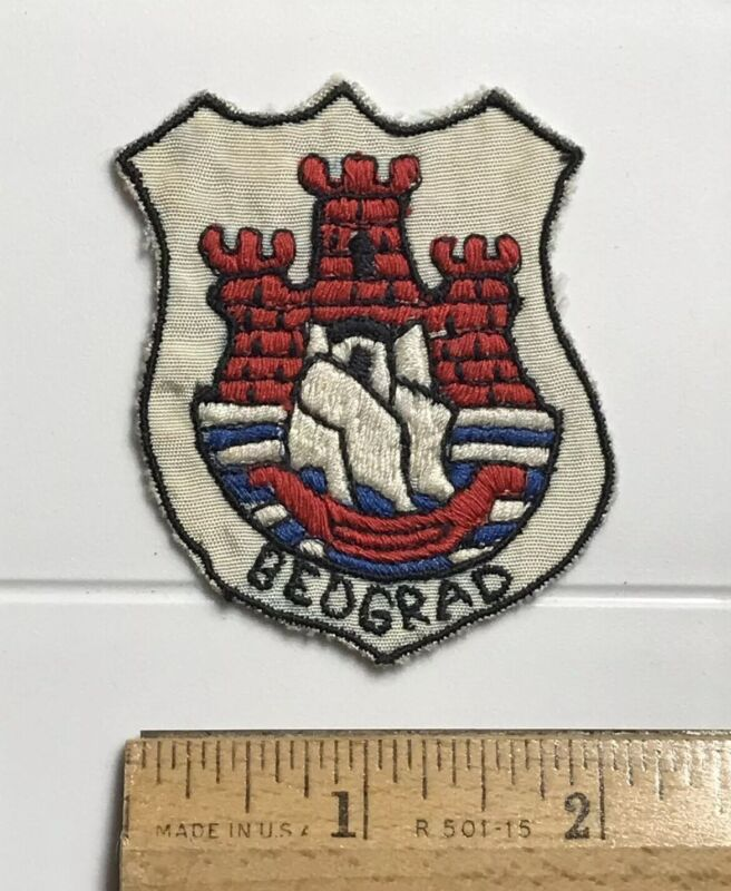 Beograd Belgrade Serbia Coat of Arms Fortress Ship Embroidered Souvenir Patch