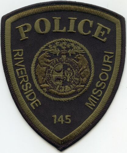 RIVERSIDE MISSOURI MO subdued POLICE PATCH
