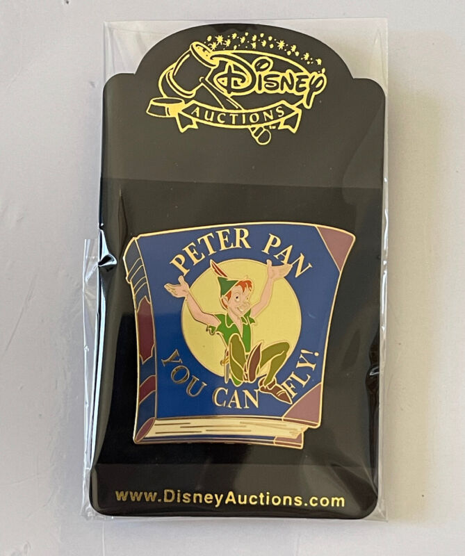 Disney Auctions LE 500 Peter Pan Book Cover You Can Fly Pin