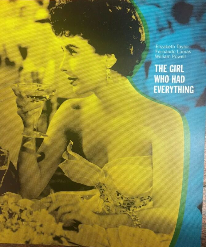 The Girl Who Had Everything Elizabeth Taylor Press Promo Movie Still 1966 8x10