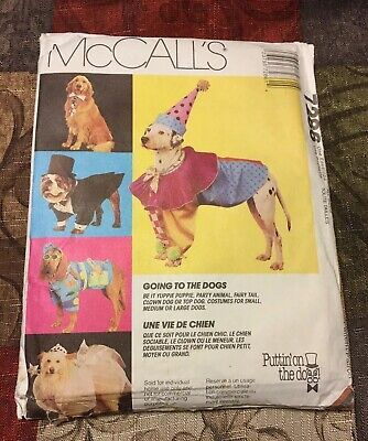 McCall's 7286 Dog Costumes Pattern Sewing All Sizes Halloween Pet UNCUT 1994