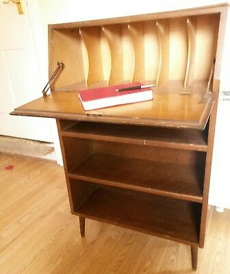 Mid Century Oak Small Childs Cottage Size Bureau Desk Retro Upcycle Farrow &Ball