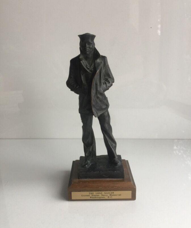 THE LONE SAILOR Statue U.S. Navy Memorial BLEIFELD Vintage Bronze Figurine