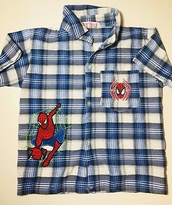 GLORIOUS Kids Toddler Boys Iron Man Shirt Top Size 18M Blue Short Sleeve Button
