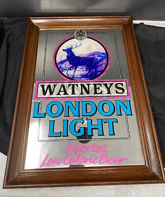 Vintage Watney's London Beer Mirror Sign Bar Decor Man Cave Old Advertising