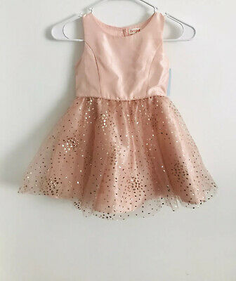 Cat & Jack Rose Gold Tulle Dress Size XS (5T) (Rose Gold Cat)