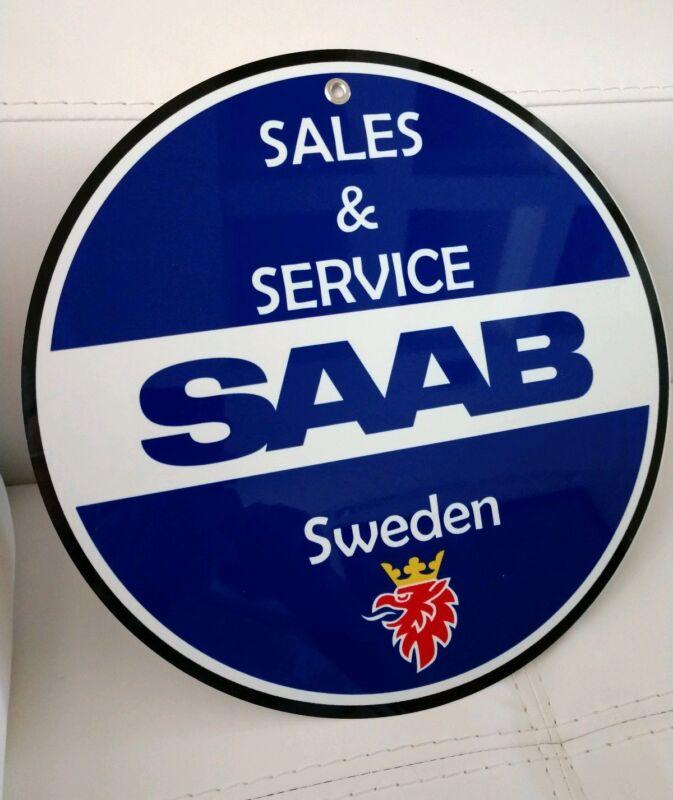 Saab advertising sign...~12 in diameter